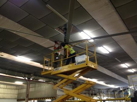 Ventilación industrial HVLS - Vista 2